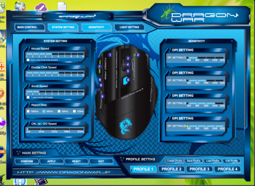 mouse gaming war dragon g9 mouse