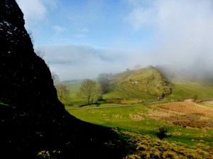 Chrome Hill Through The Mist From Parkhouse Hill