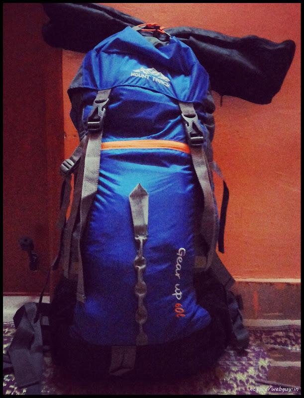 All packed and ready - Hampta Pass trekking