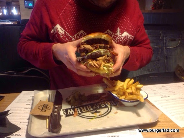 BBQ's and Brews BBQ Pit Burger