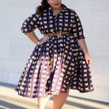 African Print Plus Size Dresses Designs 2017