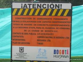 Construcción cierre permanente, Humedal de Córdoba