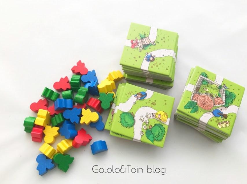 Carcassonne junior piezas y tablero