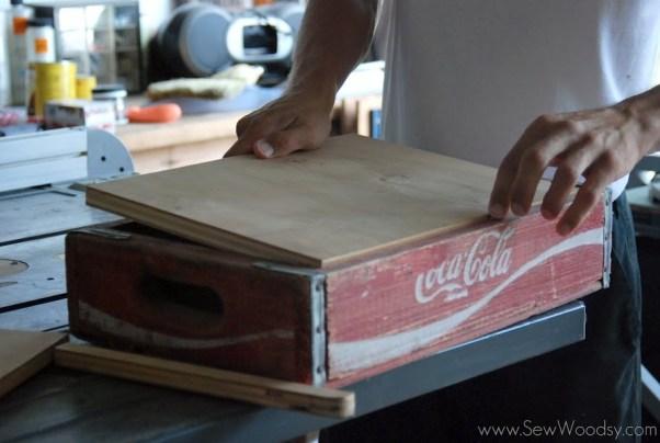 Vintage Coca Cola Crate Turned Dog Bowl