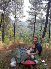 Enjoying a picnic in the mountains