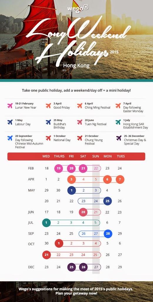 Hong Kong Public Holidays 2015