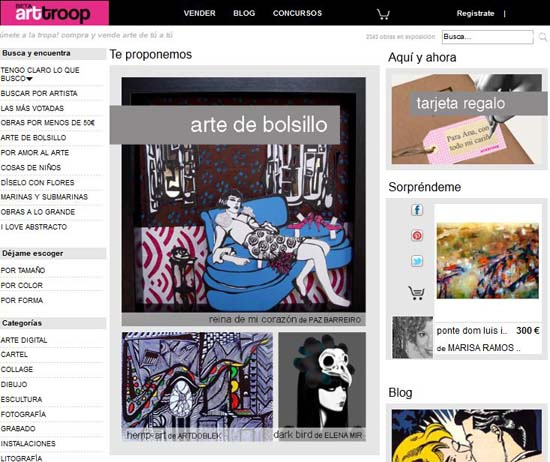 Tienda online de arte.