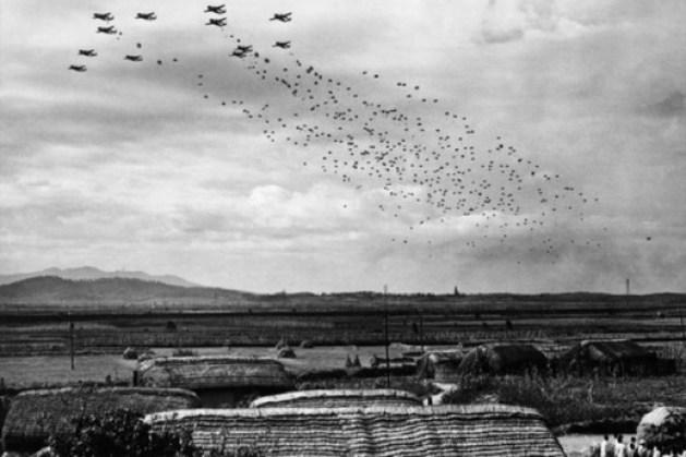 бомбардировка в северной Корее