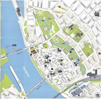 Riga Old Town Map Edi Maps Full HD Maps - Old riga map