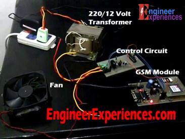 Fan Speed Control Using GSM