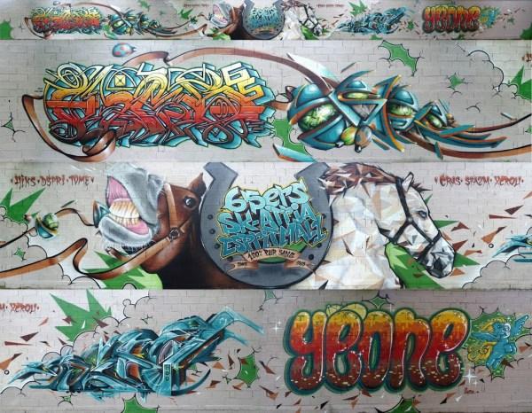 Hippodrome Laloubère Graffiti montage