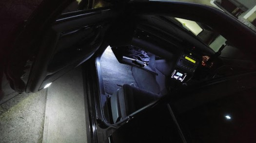 footwell glove compartment and front door leds