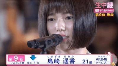 第7回AKB48選抜総選挙での島崎遥香(ぱるる)のスピーチ