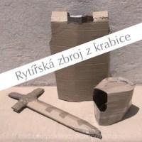 Rytířská zbroj - maska pro kluky vyrobená z krabice