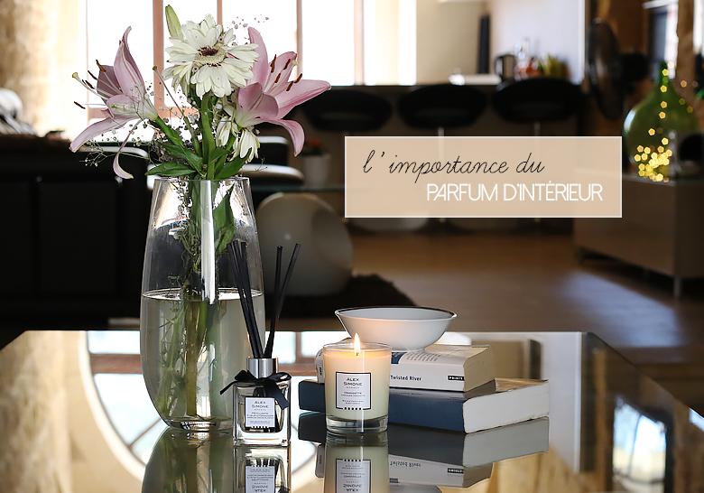Diffuseur de parfum d'intérieur et bougie parfumée Alex Simone.
