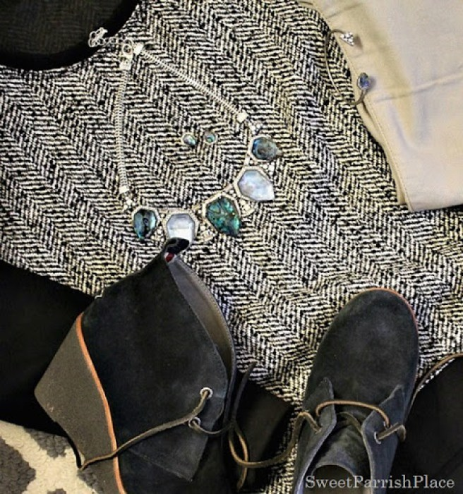 tweed-sweater-grey-pants-booties-2