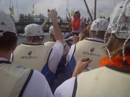 Drakenboot race met ISS in Amersfoort