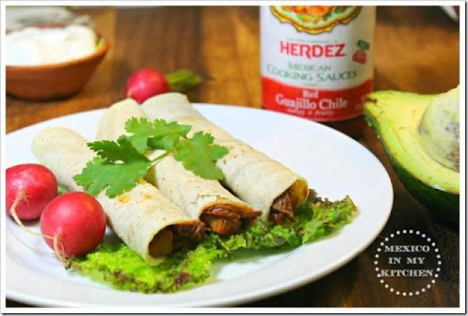 Taquitos de carne con papas al guajillo3 copy