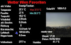Die extreme Hitze hält an und wieder gibt es einen neuen heißesten Tag des Jahres 2014 zu verkünden mit sage und schreibe 37.5°C! #Wetter #Wien #Wetterwerte #Hitzewelle