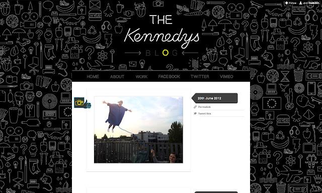 *充滿霓虹燈元素的網站:The Kennedys Web Site 5