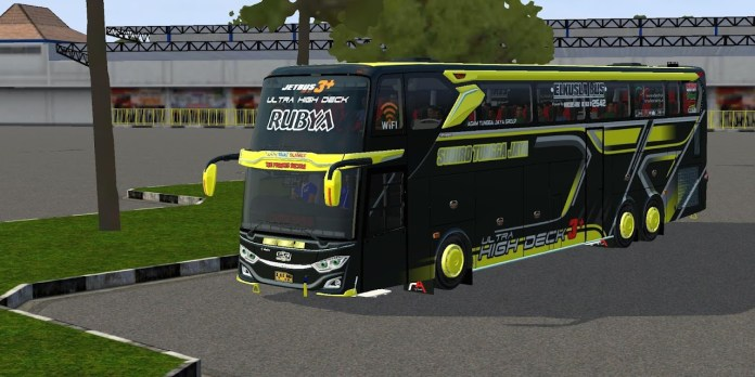 Download JetBus3+ Ultra High Deck Mod for Bus Simulator Indonesia, JetBus3+ Ultra High Deck Bus Mod BUSSID, Bus Mod JetBus3+ Ultra High Deck BUSSID