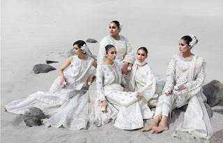 Khaadi white-on-white Festive Unstitched Collection