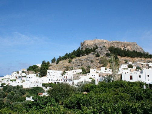 Lindos Rhodes Greece HD Wallpaper