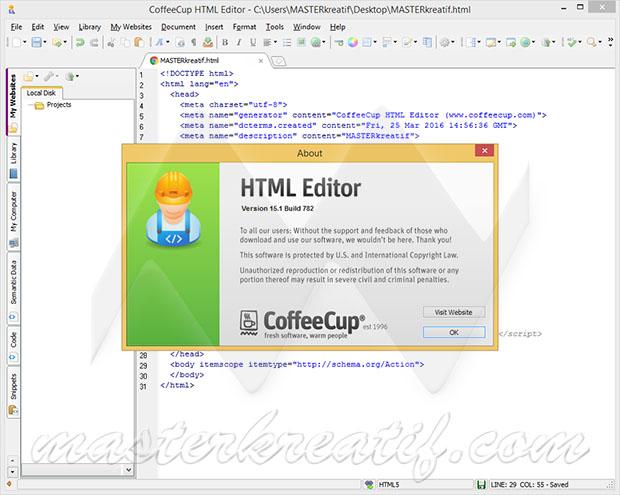 CoffeeCup HTML Editor 15.1