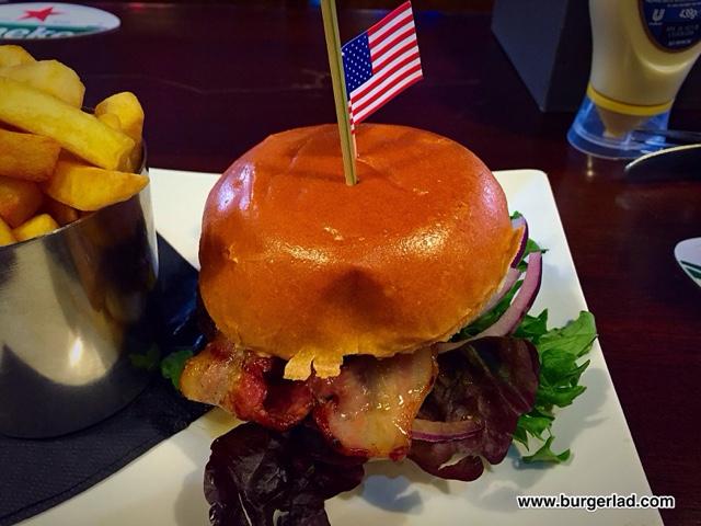 Tib Street Tavern Maple Bacon Burger
