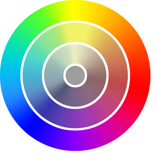 color wheel to grey