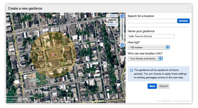 Flickr y las geofences