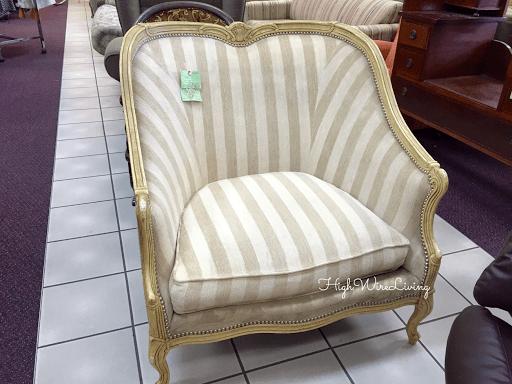 gold stripe chair