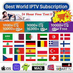 Smart IPTv Subscription IPTV Premuim 4K  Ultra HD +6000 List Free and Paid