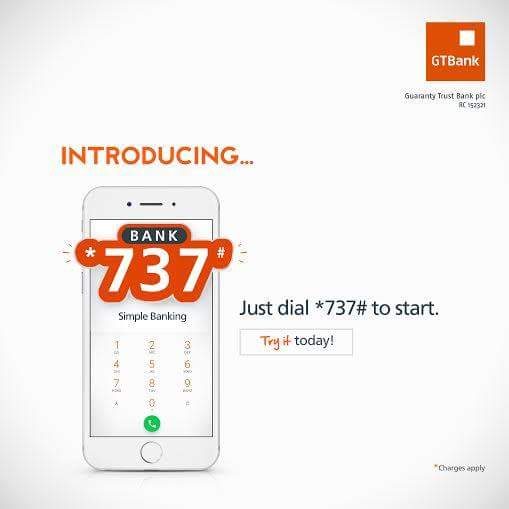 GTB Bank 737 To Buy airtime-Transfer funds- Pay bills - Pay school fees
