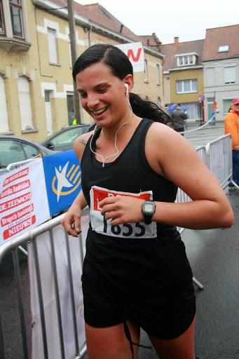 Sharon Labaere, aankomst jogging Krottegemse corrida