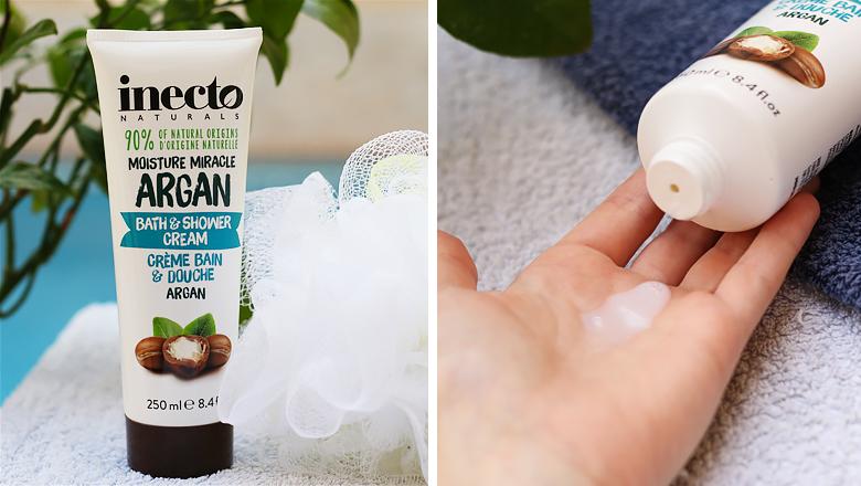 Gel douche à l'huile d'argan de la marque Inecto.
