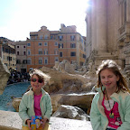 Trevi fountain in the evening, with our new Zhu Zhu pets!