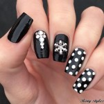 BEST & AMAZING BLACK AND WHITE NAIL ART DESIGNS 2017