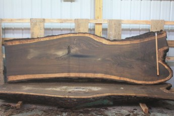 Walnut 296-7  Length 11' Max Width (inches) 38 Min Width (inches) 30 Thickness 10/4  Notes :