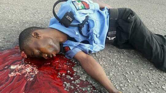Policeman Killed By Armed Robbers In Osun State(Disturbing Photos)