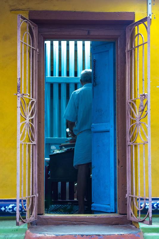 bright colored house gokarna