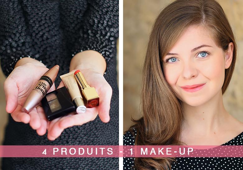 Comment réaliser un maquillage avec seulement 4 produits.