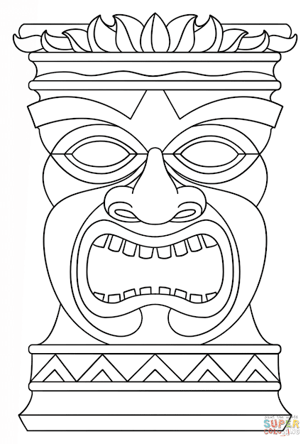 best free hawaiian tiki coloring pages free
