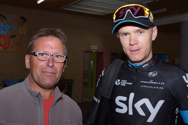 Francky Dryepondt en Chris Froome