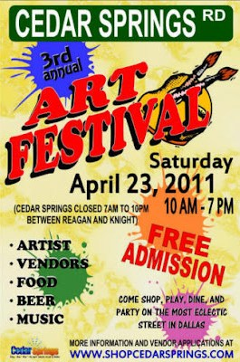 Call for Artists Cedar Springs Art Festival Dallas