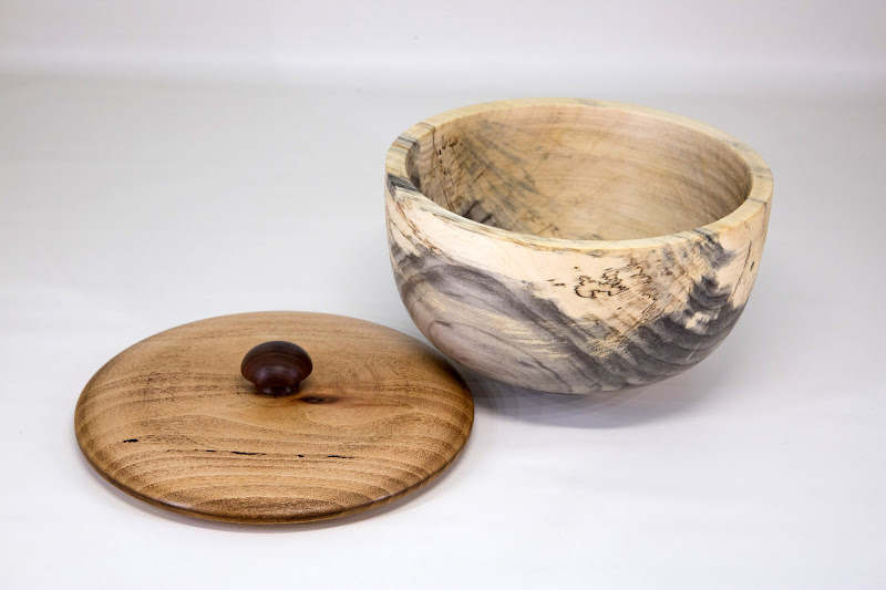 "Bob Browning 7 1/2"" x 4"" BoC box [box elder, sycamore, walnut]"