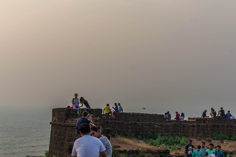 Waiting for the sunset, Chapora Fort - Goa