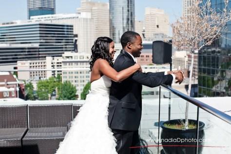 first look atlanta wedding