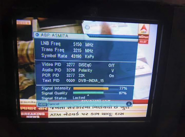 ABP Asmita . Channel Added in # DDFreeDish temporary free to air from dish TV 1