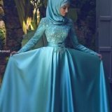 muslim bridesmaid dress with hijab 2017